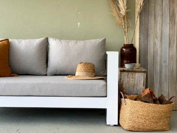 sunbrella linen look fabric white outdoor sofa