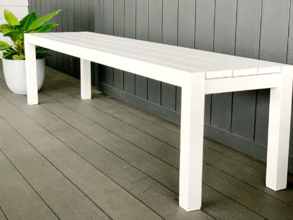 white outdoor bench seat 1800 nz