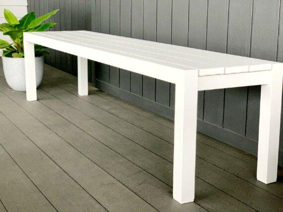 white outdoor bench seat 1800 nz
