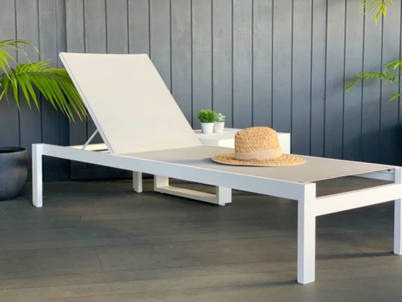 white quality sunlounger auckland