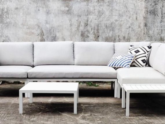fomo modular sofa outside space