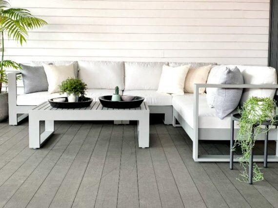 modern grey powdercoated outdoor furniture