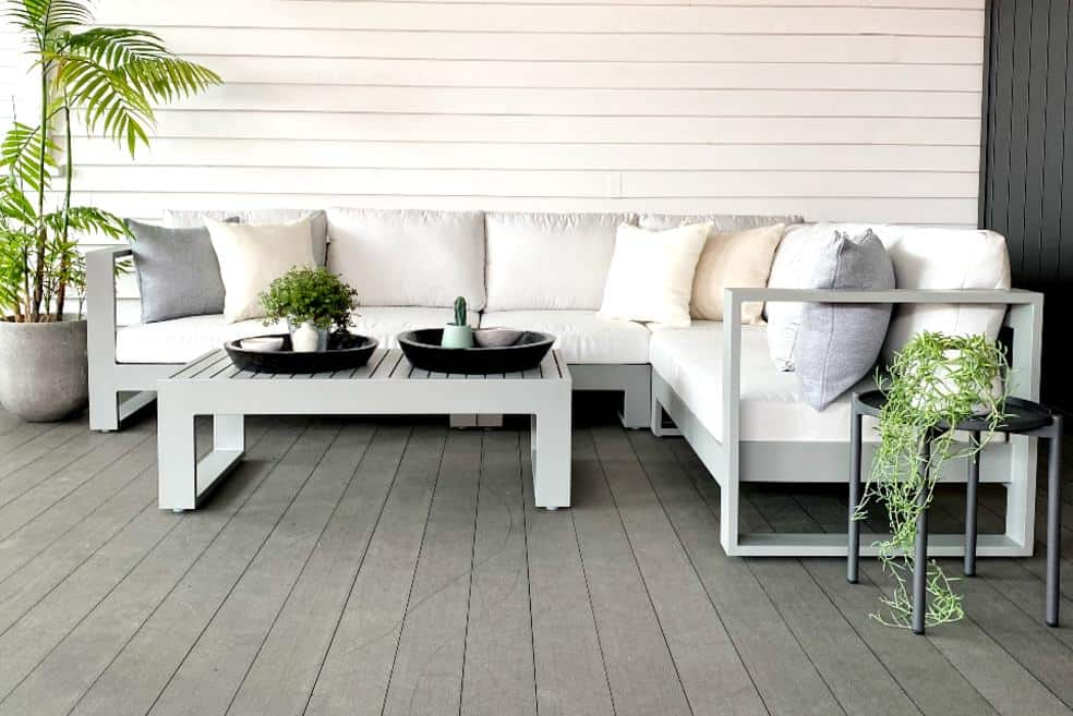 modern grey powdercoated outdoor furniture