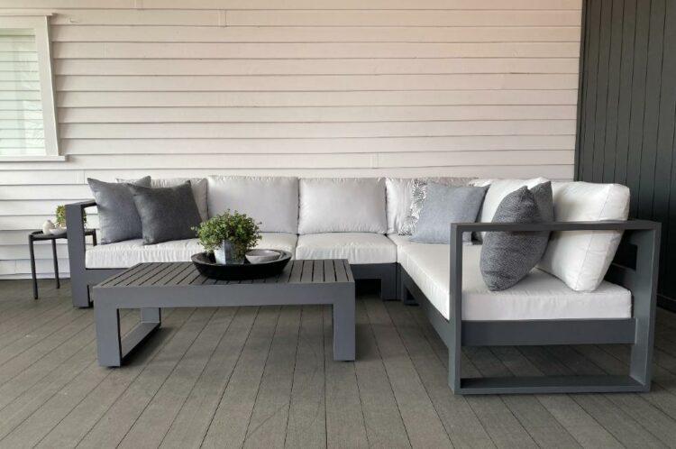 modern style black outdoor furniture nz