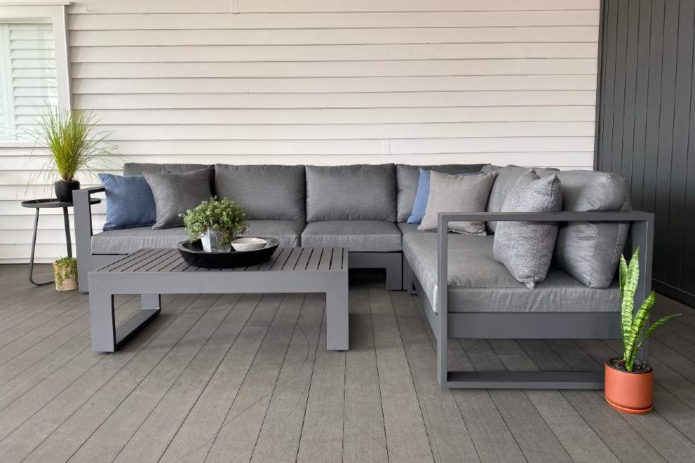 modern stylish charcoal outddor furniture auckland