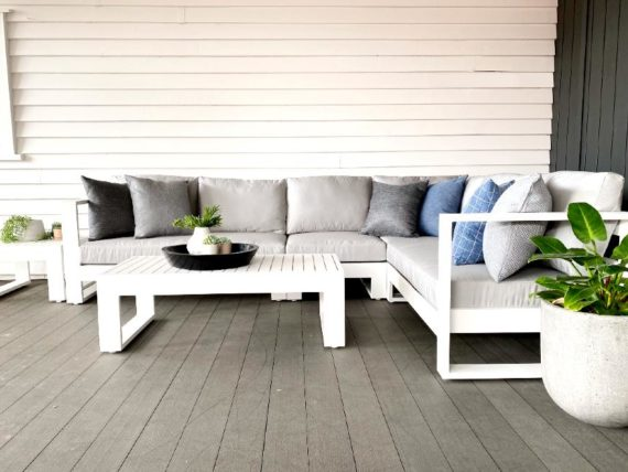 white outdoor furniture for modern kiwi home