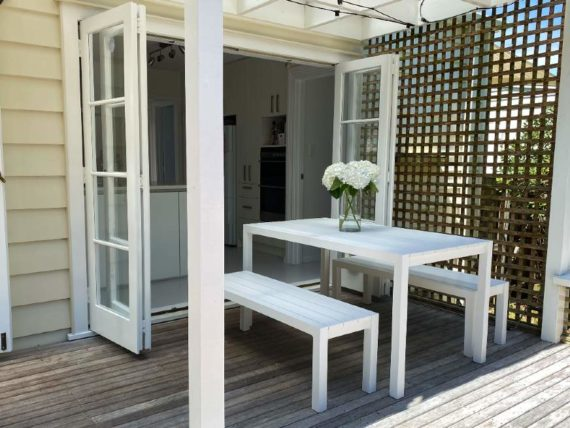small outdoor table set
