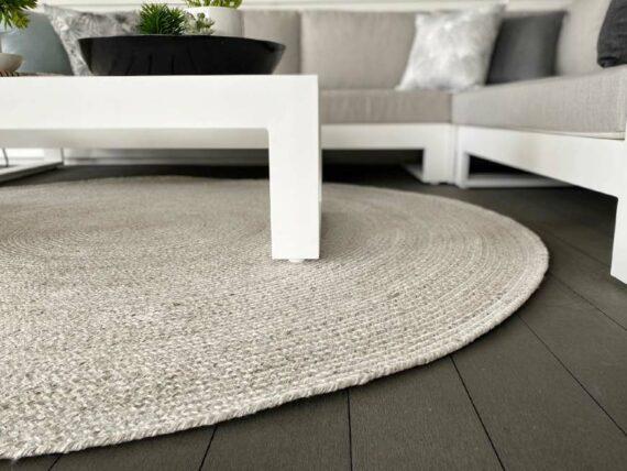 round woven outdoor rug